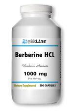 Premium Berberine HCl 1000mg Serving 200 capsules - 3+ Month Supply High Potency