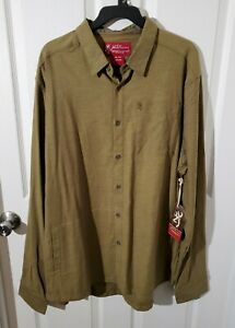 BROWNING SIZE XL MEN'S LONG SLEEVE HERITAGE COLLECTION RYE SHIRT BLACK OLIVE