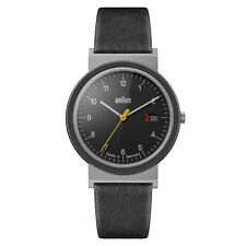 Braun Mens Gents Classic Watch Black Leather Strap AW 10 EVO Swiss Movement