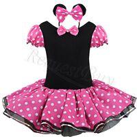 Minnie Mouse Kids Girl Toddler Tutu Skirt Polka Dot Party Fancy Dress Up Costume