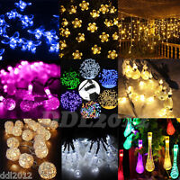 For Christmas Wedding Xmas Party Decor Garden Outdoor Fairy String Light Lamp