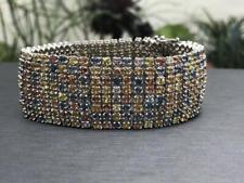 Gorgeous Round Brilliant Cut 46.00CT Multi Stones Women's Rainbow Fine Bracelets