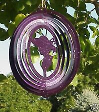 "Purple Red Hat Lady Metal Hanging Wind Spinner 8"" -   8-..RHP-2"
