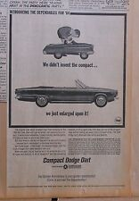 1963 newspaper ad for Dodge - Dart convertible, We just enlarged the compact