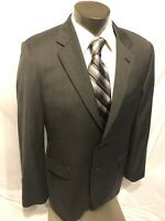 Jos A Banks Men's Gray Herringbone Signature Collection  Blazer Jacket Sz46R