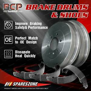 BCP Rear Brake Shoes + Brake Drums for Ford Courier PE PH 2.5L 2.6L
