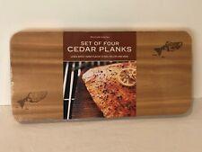 "Williams Sonoma Set of 4 Cedar Grilling Planks 15"" Long New"