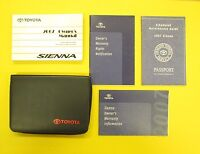 Sienna 07 2007 Toyota Owners Owner's Manual All Models and Engines OEM