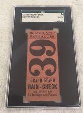 1900-1903 Boston Baseball Club (Red Sox) Ticket Stub SCG Authenticated RARE