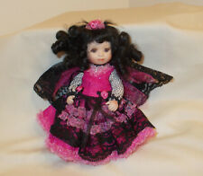 """Marie Osmond Doll 5.5"""" All Porcelain Signed Numbered & Dated 2006"""