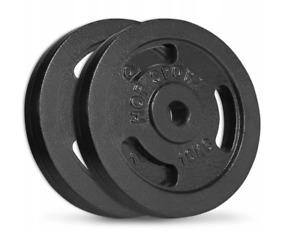 Hop Sport Cast Iron Load Set 2 x 10 kg  Black. Pro Gym  = Good Quality.