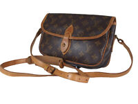LOUIS VUITTON Gibeciere PM Monogram Canvas Leather Crossbody Shoulder Bag LS3362
