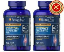 2 X Puritans Pride Double Strength Glucosamine Chondroitin MSM FREE SHIPPING
