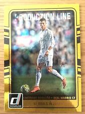 2016-17 Panini Donruss Cristiano Ronaldo Production Line Gold Real Madrid