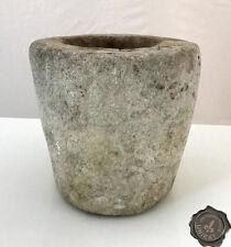 Steinmörser aus Marmor, antikes Unikat Ø 22