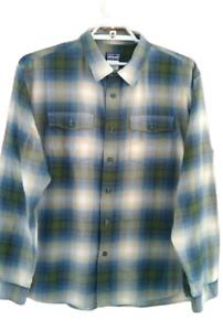 Patagonia Men Shirt  Long Sleeve Organic  Plaid Cotton Blend Large