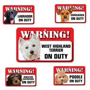 Pet Dog Laminated Card Signs Terrier Labrador Dachshund Chihuahua Poodle 20x12cm
