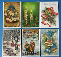 Collection of 6 New Vintage Style CHRISTMAS Postcards Noel Greetings CJ6