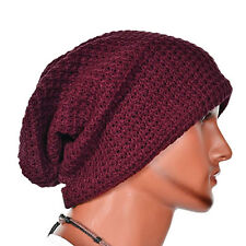 Mens Slouch Long Beanie Hat Knitted Oversized Baggy Skateboard Ski Winter Warm