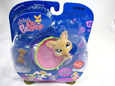 BNIB LITTLEST PET SHOP CHIHUAHUA WITH CUP AND BONE #461
