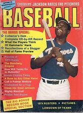 1974 Sports Quarterly Baseball magazine, Hank Aaron, Atlanta Braves ~ Fair