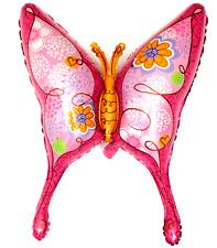 R40F1 XL Helium Folienballon Schmetterling Pink Hochzeit Geburtstag Deko balloon