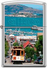 Zippo San Fransisco City Cable Car Scene Alcatraz Lighter RARE HARD TO FIND  NEW