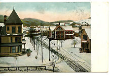 Highland Avenue-Aerial Street Scene in Winter-Hardwick-Vermont-Vintage Postcard