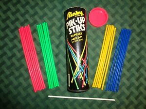 Vintage Slinky Pik-Up Stiks Pick Up 26 Sticks red blue green yellow white toy