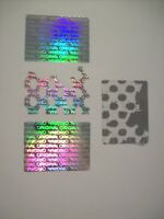 100 Custom ORIGINAL Hologram Tamper Proof Security Warranty Labels Stickers