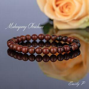 Natura 6mm Grade A Mahogany Obsidian Stretch Bracelet Healing Chakra Bracelet