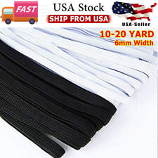 10-20YARDS 1/4inch 6mm Flat Elastic Band DIY face mask best Quality in USA