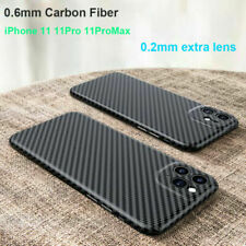 Real Carbon Fiber 0.6mm Slim Lens Protective Case Cover For iPhone 11 11Pro Max