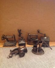 1976 Durham Miniatures Lot Weather Vane Grinders Meat Coffee Water Pump Iron