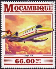 LEARJET Model 35 / 35A Air Ambulance Aircraft Stamp (2015 Mozambique)