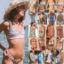 2019 sexy feminino floral Swimwear biquíni Push-up com bojo maiô beachwear