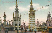 BROOKLYN NY - Coney Island Luna Park View - 1907