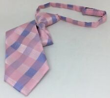 BHS Young Boys Pink Checked Velcro Tie