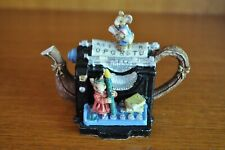 Gorgeous Little Mouse Theme Typewriter Teapot Miniature Figurine - 7cm Tall