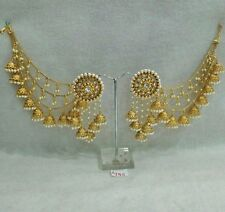 INDIAN BOLLYWOOD JEWELRY GOLD PALETED WEDDING WEAR TEADITIONAL POLKI EARRING.133
