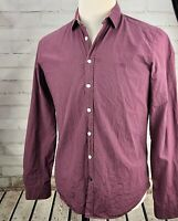 Burberry Brit Plaid Shirt Long Sleeve Button Down Mens M 100% Cotton Lightweight