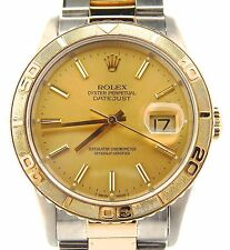 Rolex Datejust Turn-O-Graph Thunderbird 2Tone 18K Gold Stainless Champagne 16263
