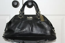 Coach Madison Black Leather Sabrina Satchel Shoulder Handbag  12949