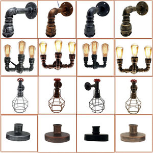 Vintage Pipe Wall Light Indoor Lighting Retro Lamp Rustic Industrial Light UK