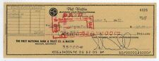 RARE Johnny Taylor SIGNED Cancelled Booking Company Check! C22