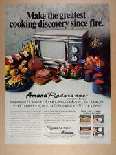 1970 Amana Radarange Microwave Oven vintage print Ad