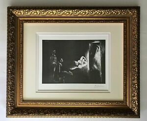 PABLO PICASSO 1969 SIGNED SUPERB PRINT MATTED 11 X 14 + LIST