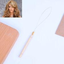 Hair Extension Hook Pulling Tool Kit Needle Threader Micro Ring Beads Loop w CC