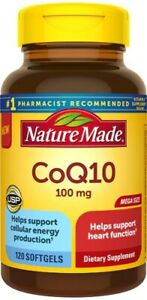 Nature Made CoQ10 100mg Softgels, Heart Health, 120 Count exp 11/2023