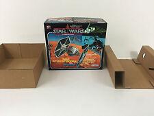 replacement vintage star wars glasslite tie fighter box + inserts